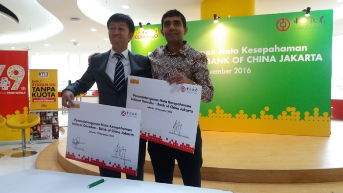 Perkuat Co-Branding Card, Bank of China Gandeng Indosat