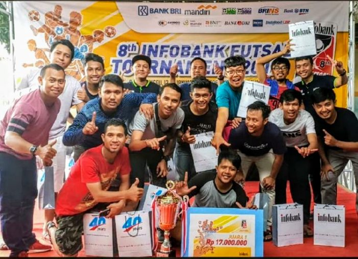 "Tim Adira Finance Juarai ""8th Infobank Futsal Tournament 2019"""