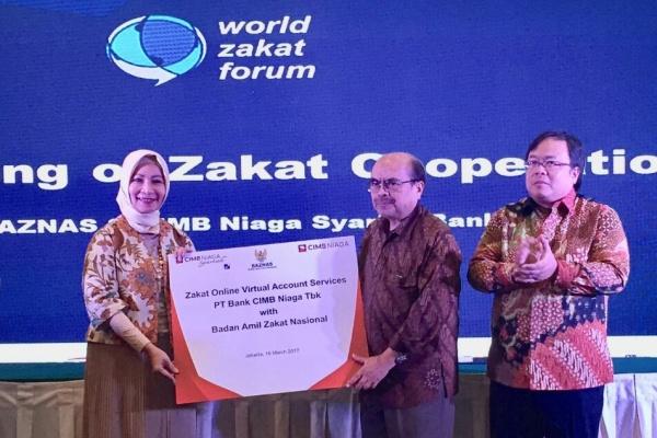 Buka Layanan Zakat Online, CIMB Niaga Syariah Gandeng Baznas