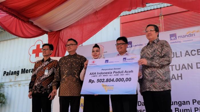 Bantu Aceh, AXA Mandiri dan AXA Serahkan Dana Rp502 juta