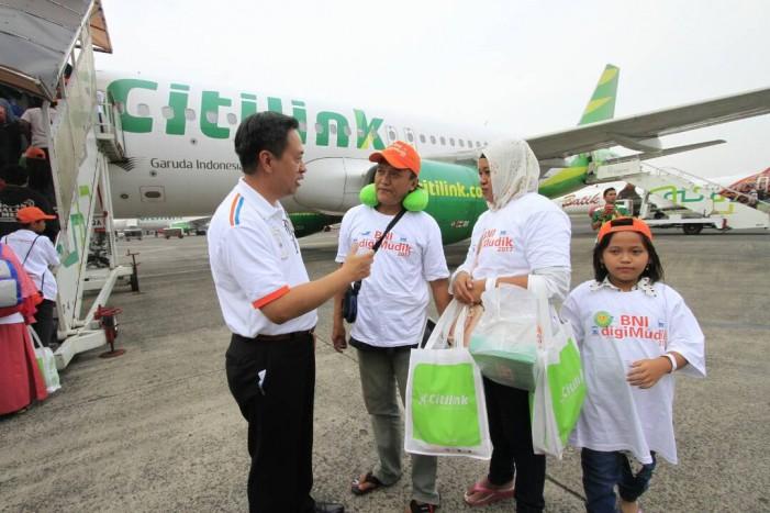 Gandeng Citilink, BNI Terbangkan 300 Pemudik Gratis