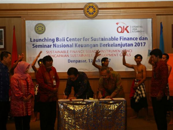 OJK Luncurkan Bali Center For Sustainable Finance