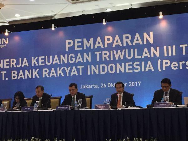 Triwulan III-2017, BRI Bukukan Laba Rp20,5 triliun