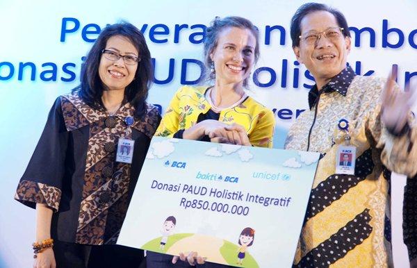 BCA Donasikan Rp850 Juta ke UNICEF