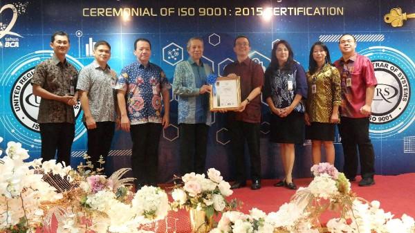 BCA Sukses Terima Penghargaan ISO 9001:2015