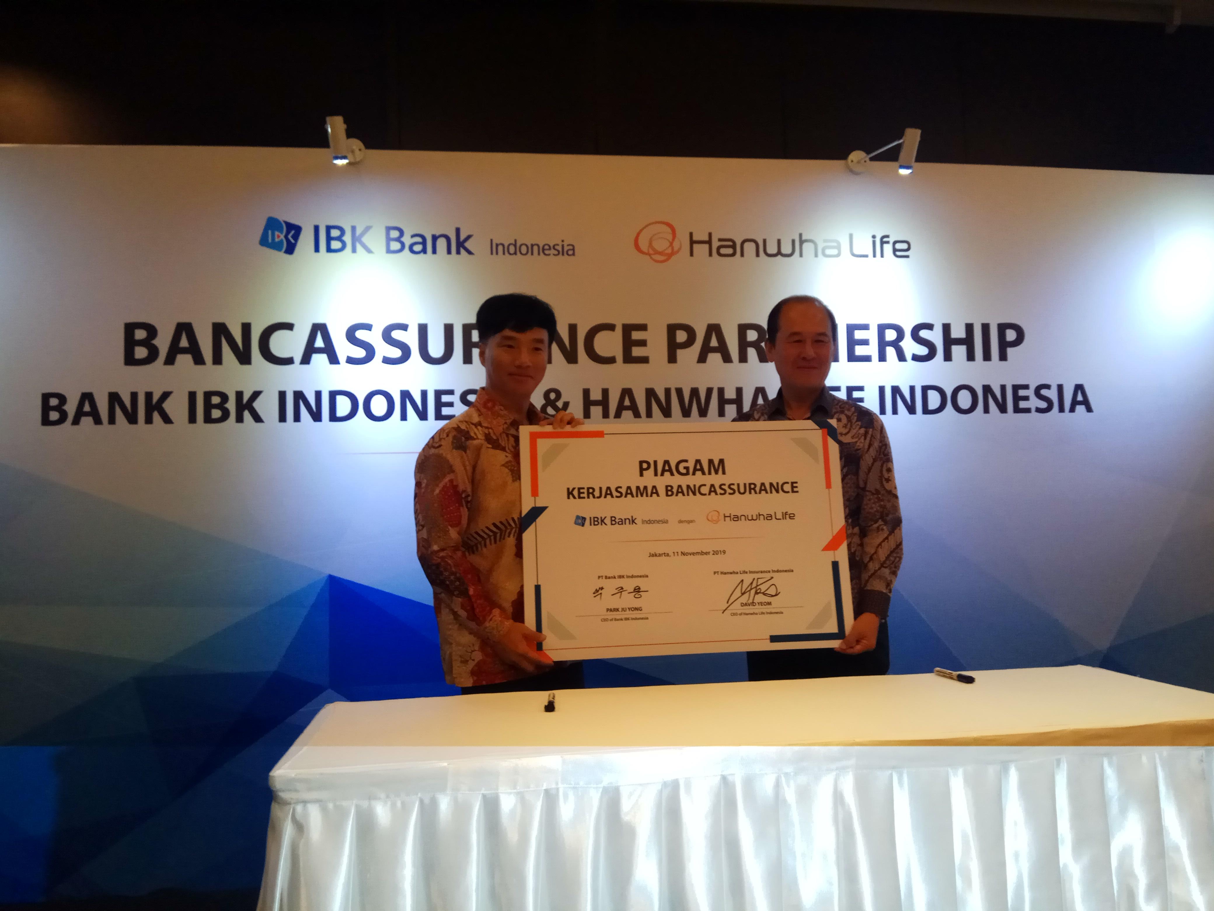 Hanwha Life dan Bank IBK Indonesia Jalin Kerjasama Bancassurance