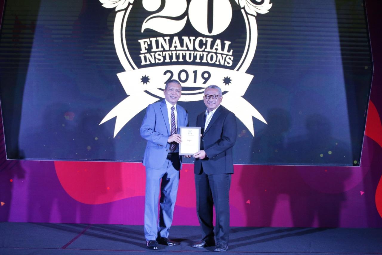 """Tugu Insurance Raih """"Top 20 Financial Institution"""" & The Best CFO dari The Finance"""