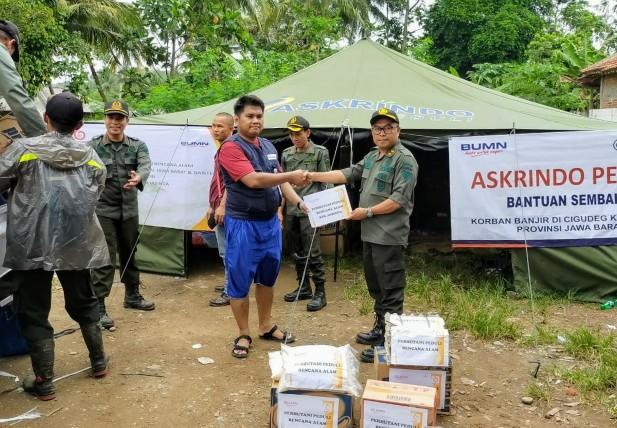 Askrindo dan Dua BUMN Dirikan Posko BUMN Peduli Banjir di Bogor