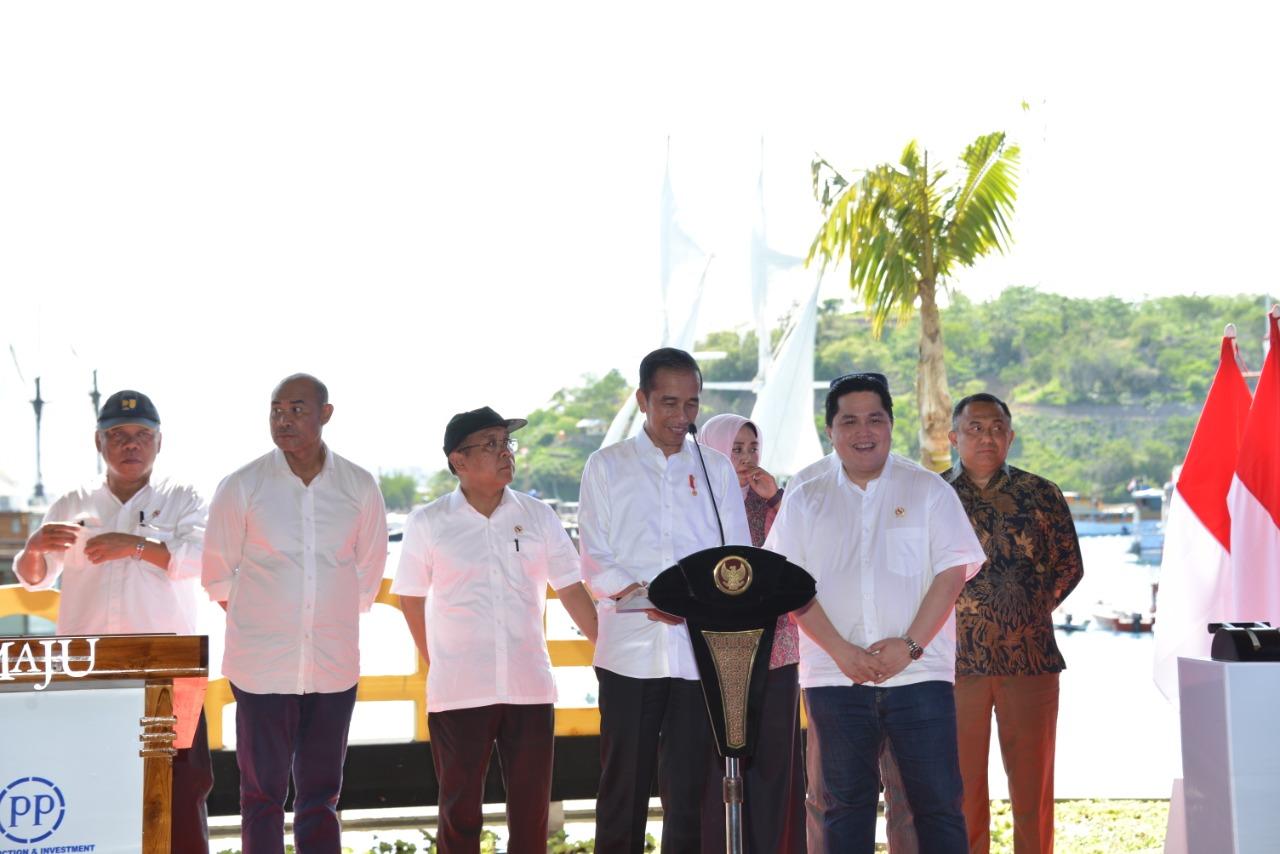 Jokowi Resmikan Proyek PTPP dan ASDP di   Labuan Bajo