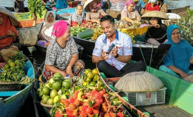 BRI Berdayakan Pedagang Pasar di Malang Dengan Teknologi