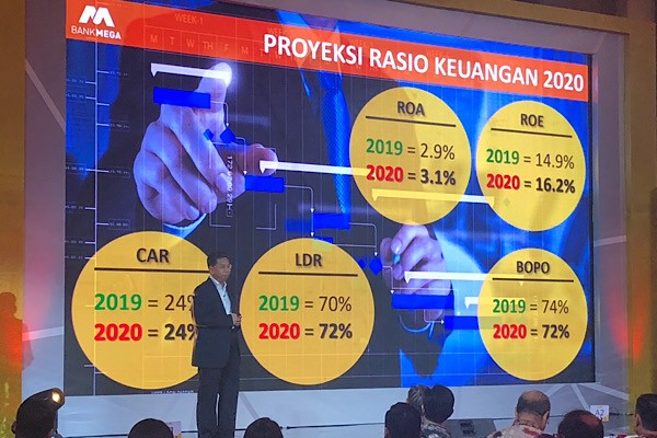 Bank Mega Cetak Laba Bersih Rp2 Triliun pada 2019