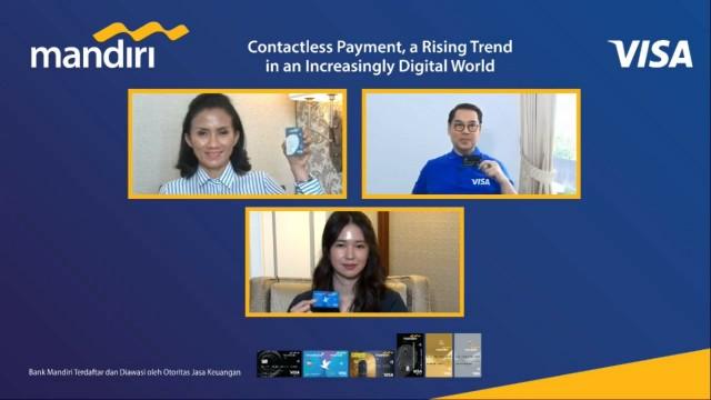 Bank Mandiri Akan Terbitkan 400 Ribu Kartu Mandiri Visa Contactless Payment