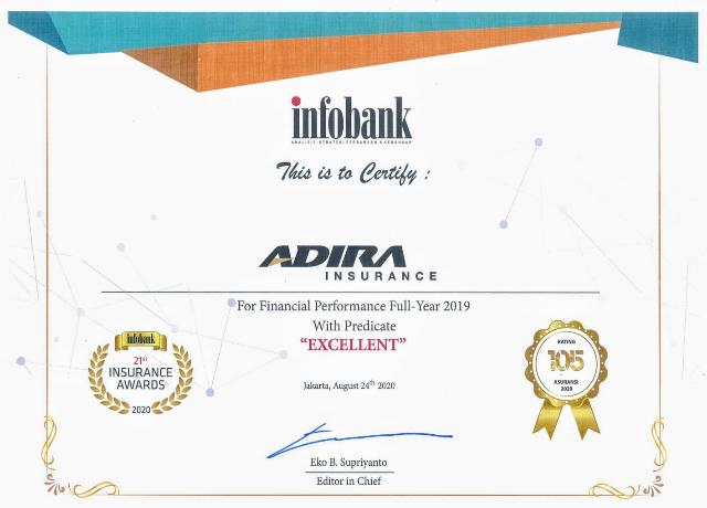 Kinerja Ciamik, Adira Insurance Sabet Infobank Insurance Awards 2020