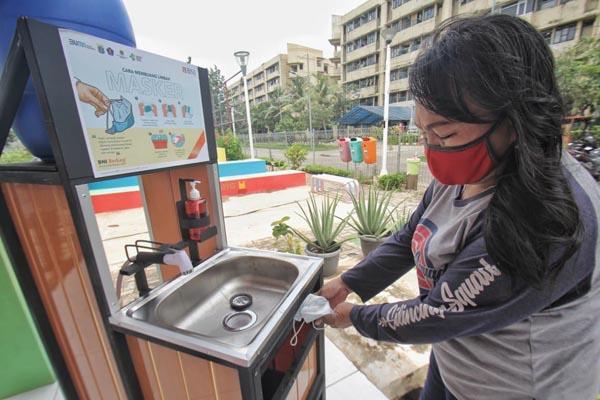 Sosialisasi Cara Membuang Sampah Masker